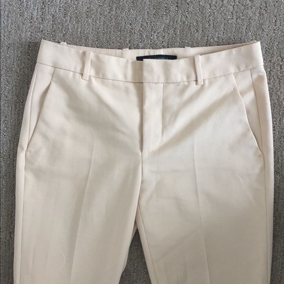 dd09c8a0 Zara Pants | Pale Yellow Cigarette Trousers | Poshmark